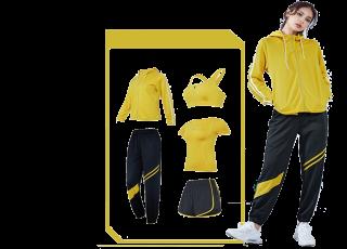 Комплект женской спортивной одежды для фитнеса