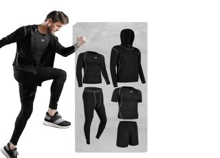 Комплект мужской спортивной одежды для фитнеса