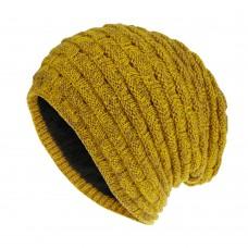Вязаная шапка - Knitted - Желтая