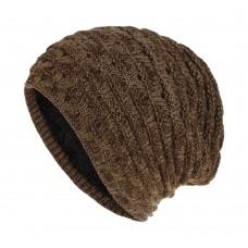 Вязаная шапка - Knitted - Коричневая