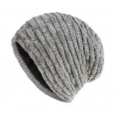 Вязаная шапка - Knitted - Серая