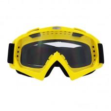 Маска лыжная |8167| Жёлтая оправа с прозрачными линзами | Очки горнолыжные SKI
