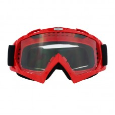 Маска лыжная |8165| Красная оправа с прозрачными линзами | Очки горнолыжные SKI