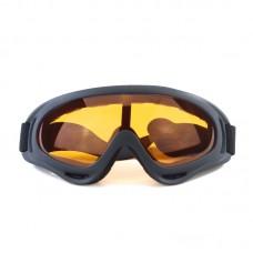 Маска сноубордическая |8179| Желтые линзы | Очки противотуманные для катания на сноуборде SunShine