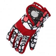 Детские зимние перчатки - ChildSnow - Красные
