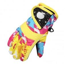Детские зимние перчатки - ChildSnow - Желтые