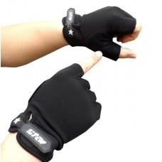 Перчатки без пальцев - Atletik - Чёрные