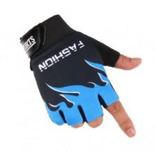 Перчатки без пальцев - Голубые