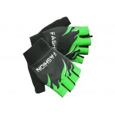 Перчатки без пальцев - Зелёные